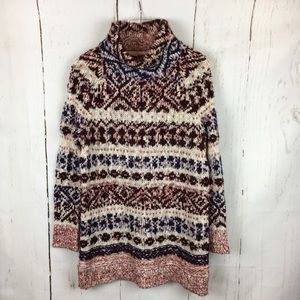 Free People | Fair Isle Tunic Turtleneck